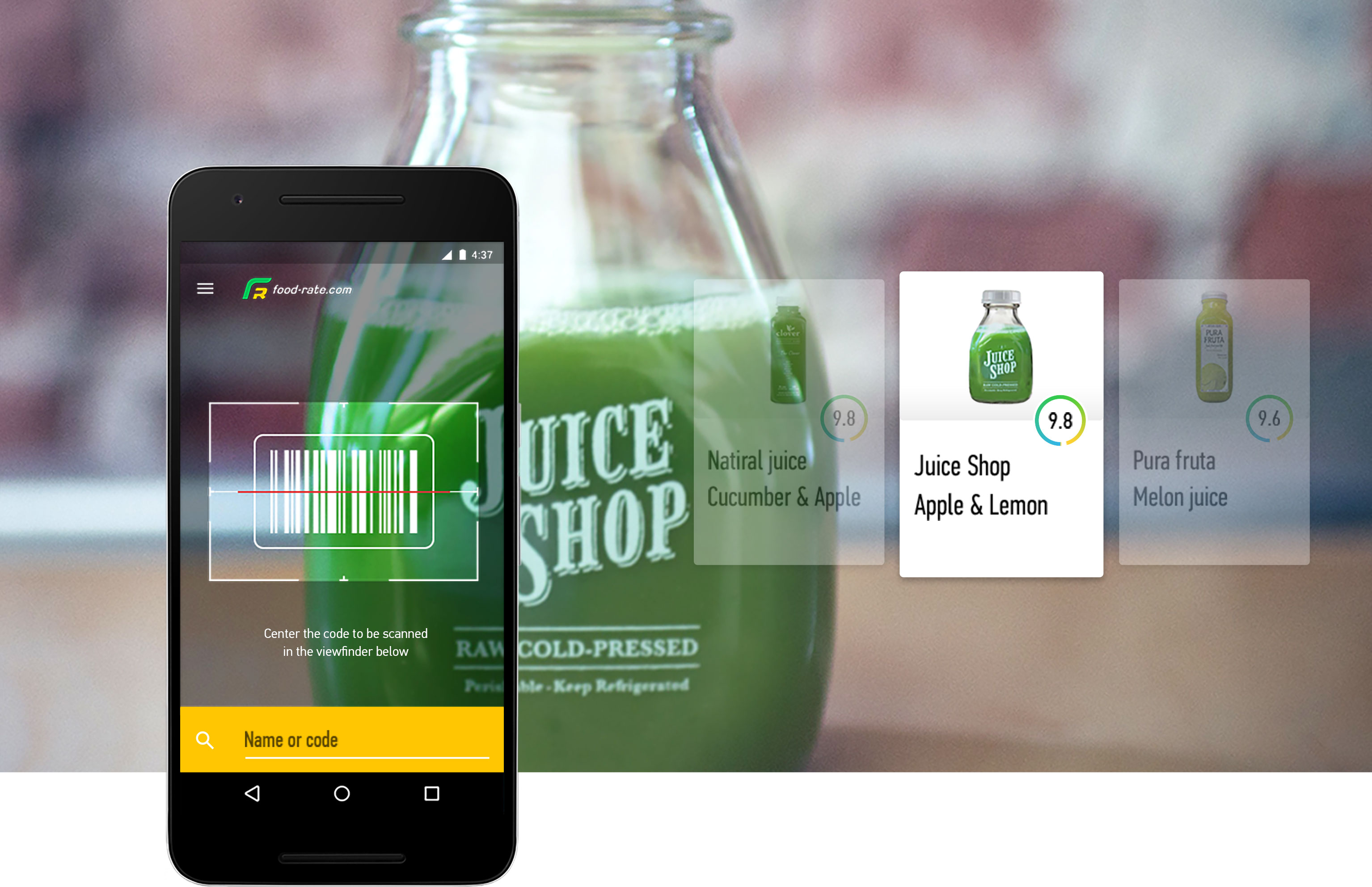 Food-rate   Food Rating App with a Barcode Scanner